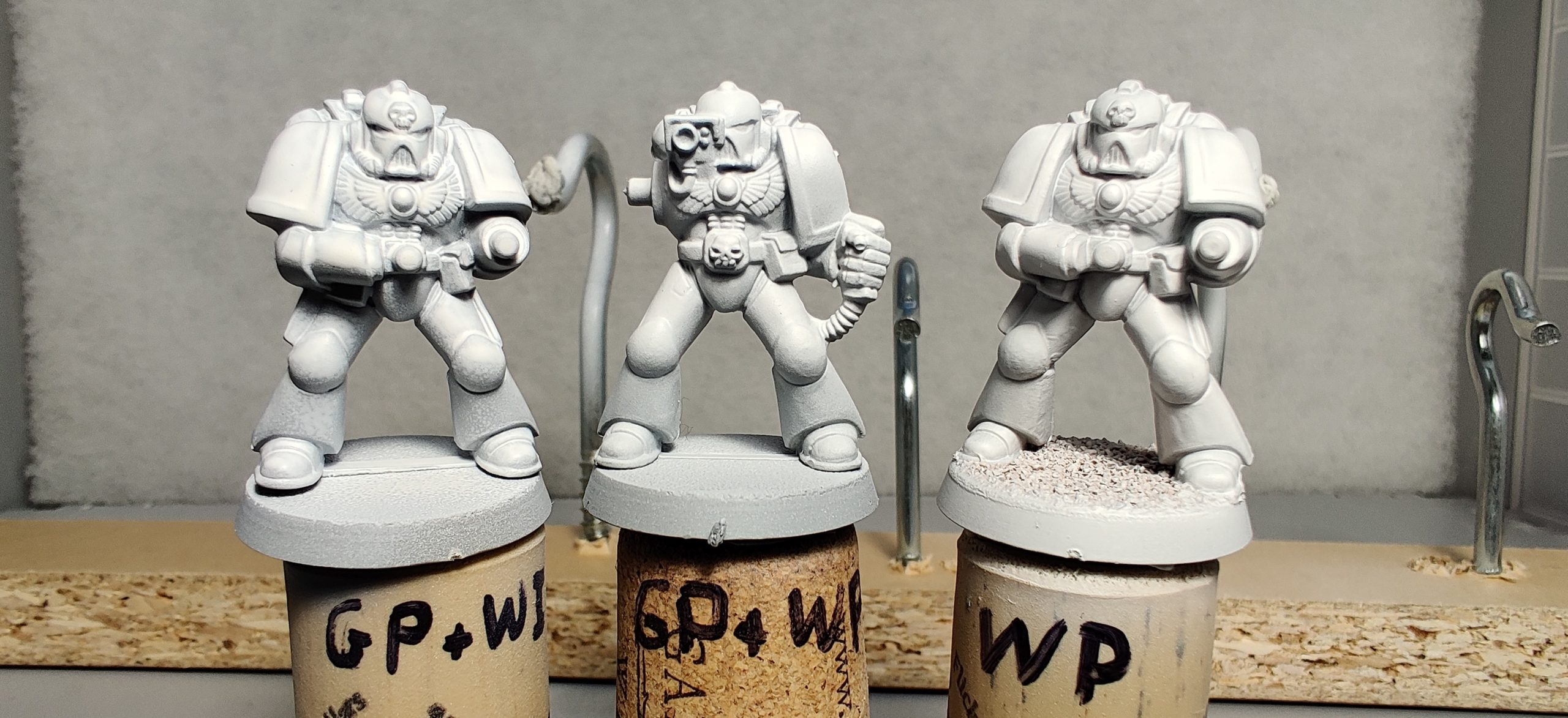Warhammer 40K 2nd-Edition Space Marines Primed