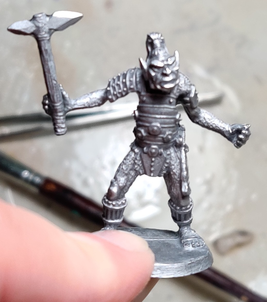 Ral Partha ogre after scrubbing.