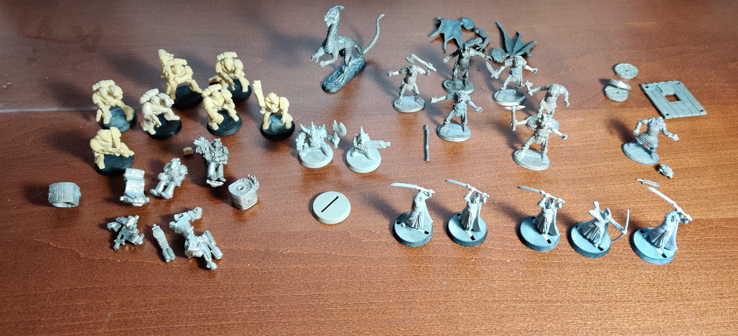 All the stripped miniatures.
