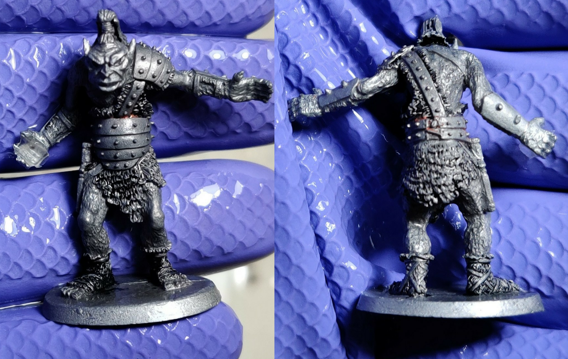 Another Ral Partha ogre mostly clean of paint.